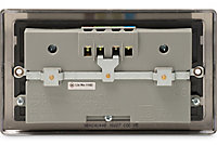 British General 4.2A Black Nickel effect USB socket