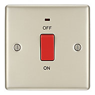British General 45A Polished cream nickel effect Cooker Switch