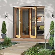 Glazed Golden Oak LH External Folding Patio Door set, (H)2094mm (W)2094mm