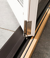 Glazed Pre-painted White Timber LH External Folding Patio Door set, (H)2094mm (W)2094mm