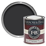 Farrow & Ball Pitch Black no.256 Gloss paint 0.75L