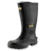 JCB Hydromaster Black Safety wellingtons, Size 10