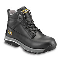 JCB Workmax Black Safety boots, Size 7