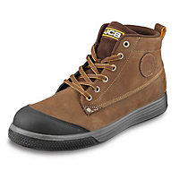 JCB Hiker Tan Safety trainers, Size 8