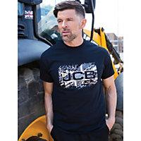 JCB Heritage Black T-shirt Medium