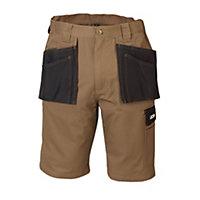 "JCB Keele Black & sand Shorts W38"""