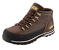 JCB Brown 3CX Hiker Non-safety boots, Size 9