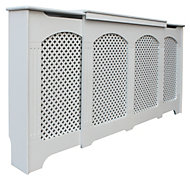 Cambridge Adjustable Medium - Large White Painted Radiator cover