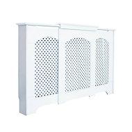 Cambridge Adjustable Small - Medium White Painted Radiator cover