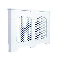 Cambridge Medium White Radiator cover
