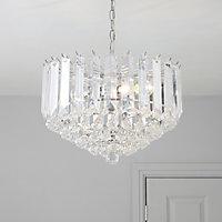 Procopio Silver effect 2 Lamp Pendant Ceiling light