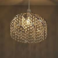 Colours Carbucca Clear Crystal effect Beaded Light shade (D)300mm