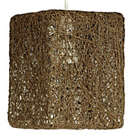 Abaca Brown Twine Light shade (D)177mm