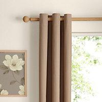 Zen Seine Plain Unlined Eyelet Curtains (W)167cm (L)183cm, Pair