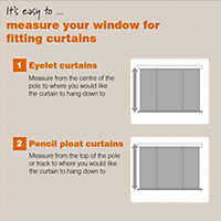 Zen Duck egg Plain Unlined Eyelet Curtains (W)167cm (L)228cm, Pair