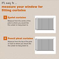 Prestige Seine Plain Lined Pencil pleat Curtains (W)167cm (L)228cm, Pair