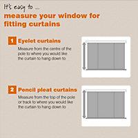 Prestige Denim Plain Pencil pleat Lined Curtains (W)167 cm (L)183 cm