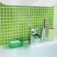 Lime Glass Mosaic tile, (L)300mm (W)300mm