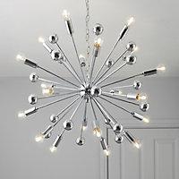 Komet Chrome effect 20 Lamp Pendant Ceiling light