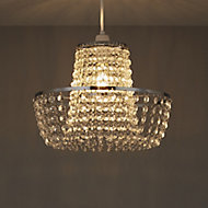Colours Coltelli Clear Crystal effect Beaded Light shade (D)300mm