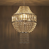 Colours Cesare Clear Crystal effect Beaded Light shade (D)300mm