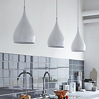 Kinsei Gloss White Pendant Ceiling light