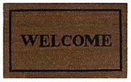 Diall Black & natural Coir Door mat (L)0.45m (W)0.75m