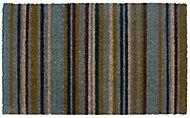Colours Melia Striped Multicolour Coir Door mat (L)0.45m (W)0.75m