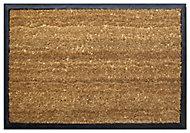 Diall Black & natural Coir Door mat (L)0.45m (W)0.65m