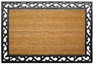 Diall Black & natural Coir Door mat (L)0.9m (W)0.6m