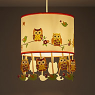 Colours Oratory Multicolour Owl Light shade (D)250mm