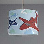 Colours Revolutio Blue Airplane Light shade (D)250mm