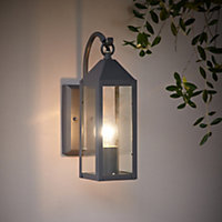 Blooma Capella Charcoal PIR Outdoor Lantern 60W