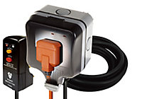 Diall 13A Grey Switched Socket