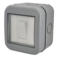Diall 10A 2 way Grey Switch