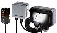 Diall Grey 13A RCD socket