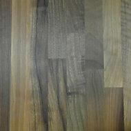 40mm Solid walnut Square edge Kitchen Breakfront Worktop, (L)3000mm