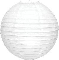 White Ribbed ball Light shade (D)350mm