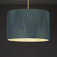 Colours Lainie Blue V-pleat Light shade (D)300mm