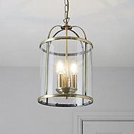 Meira Gold effect 3 Lamp Pendant Ceiling light