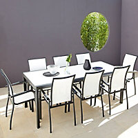 White Metal Dining Chair, Pack of 6