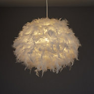 Colours Melito White Feather ball Light shade (D)400mm