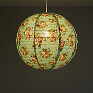 Colours Elodia Blue Floral Light shade (D)400mm