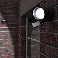 Anza Black Solar-powered 36 lamp Twin spotlight