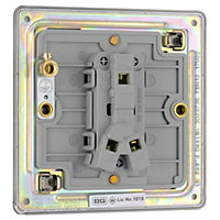 Colours 10A 2 way Polished black nickel effect Single Light Switch