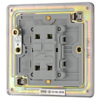 Colours 10A 1 way Polished black nickel effect Single Light Switch