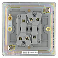 Colours 10A 2 way Silver effect Single Switch