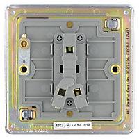 Colours 10A 2 way Polished chrome effect Single Light Switch