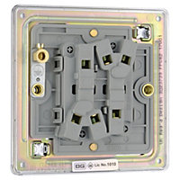 Colours 10A 2 way Polished chrome effect Double Light Switch
