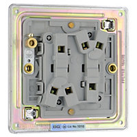 Colours 10A 2 way Polished chrome effect Double Toggle Switch